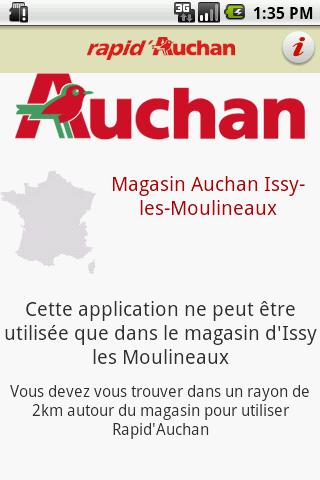 Rapid Auchan– Capture d'écran