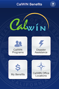 CalWIN Mobile Application - screenshot thumbnail