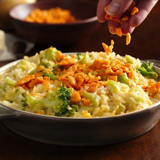 Creamy Cheese Broccoli Rice Bake