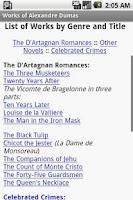 Screenshot of Works of Alexandre Dumas