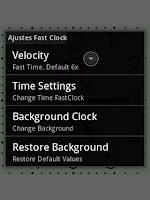 Screenshot of FastClock