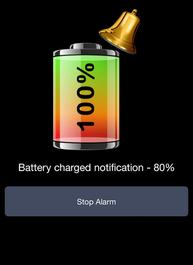 Battery 100% Alarm- screenshot