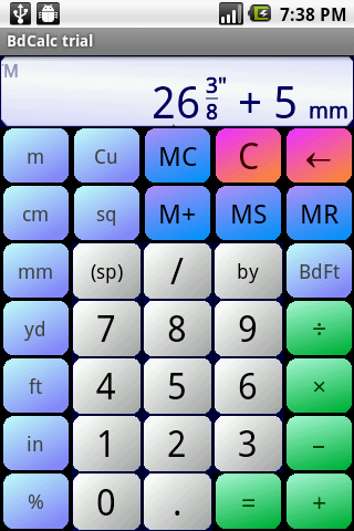 Board Calc Trial version- screenshot