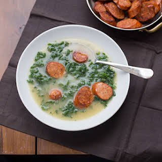 Caldo Verde (Portuguese Kale and Sausage Soup).