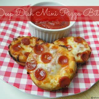 Deep Dish Mini Pizza Bites.
