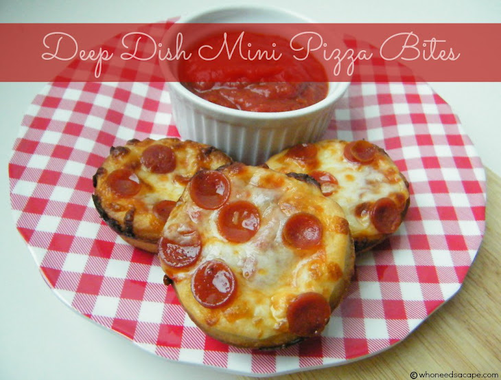Deep Dish Mini Pizza Bites Recipe