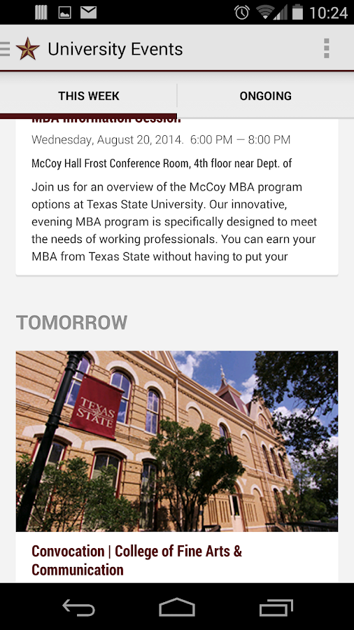 Texas State Mobile- screenshot
