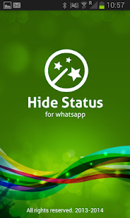 Hide status - screenshot thumbnail
