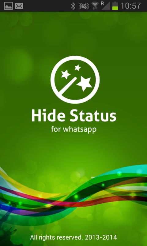 Hide status - screenshot