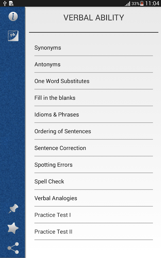 Pocket Verbal Ability - screenshot