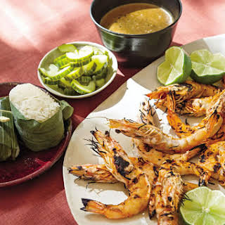 Thai Grilled Shrimp with Black Pepper Sauce.