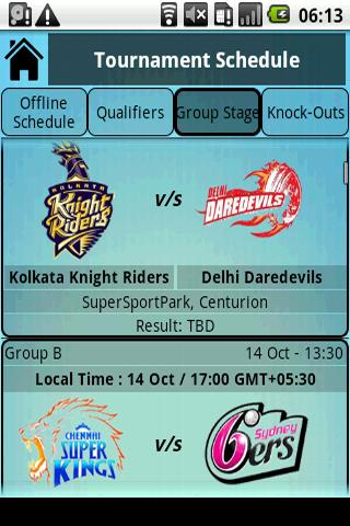 Champions League T20 Live - screenshot