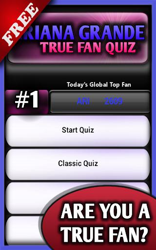 Fan Pop Quiz Ariana Facts