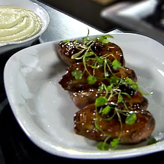 Honey-glazed Duck Breasts with Apple Sauce.