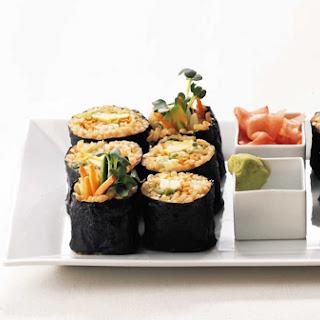 Vegetarian Brown Rice Sushi Rolls.