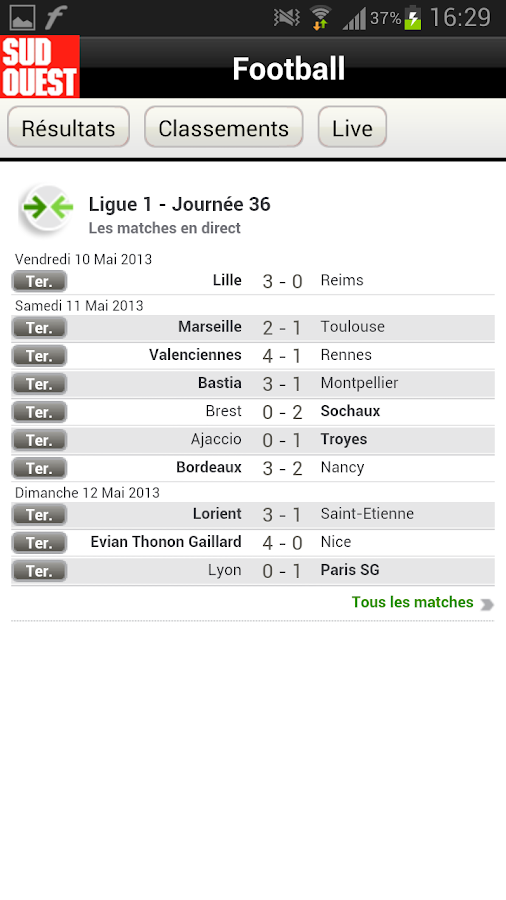 Sud Ouest - screenshot