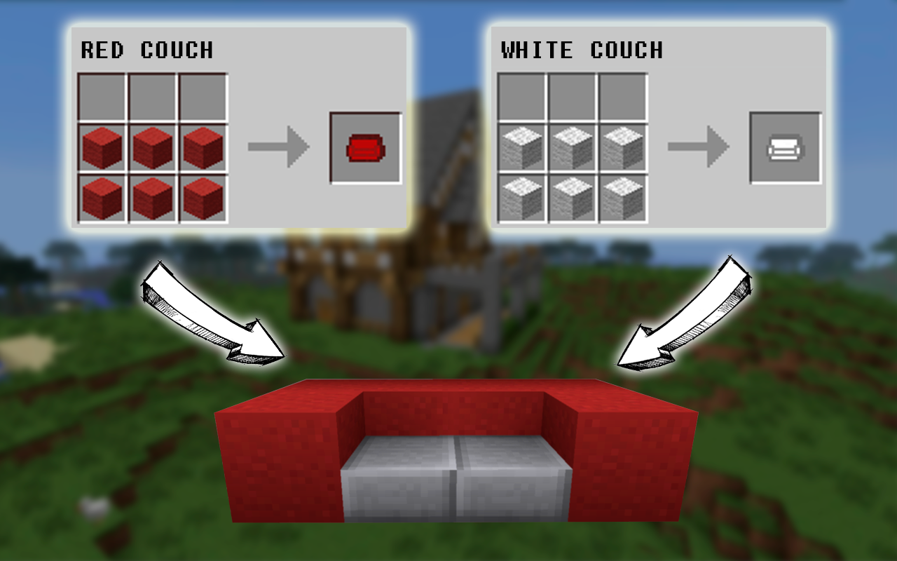 Minecraft sofa recipe for Good craft 2 play store