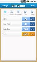Screenshot of Days Matter