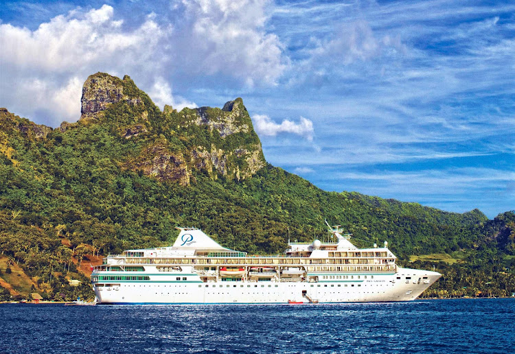 The Paul Gauguin in Moorea. The Gauguin has three restaurants, a luxury spa and a staff of 217.