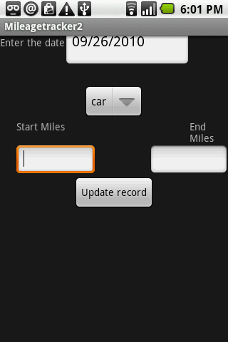 Mileage Tracker 2 - screenshot