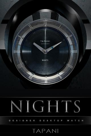 NIGHTS Designer Clock Widget