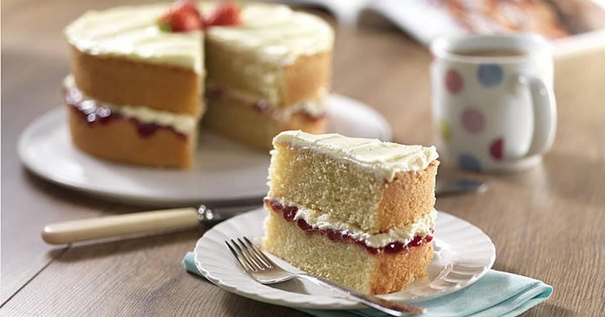 Sponge Cake Recipe Uk Plain Flour: 10 Best Vanilla Sponge Cake Recipes Without Butter