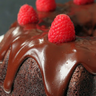 Whole Wheat Chocolate Raspberry Cheesecake Bundt Cake