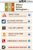 Screenshot of WKW Auto Accident App