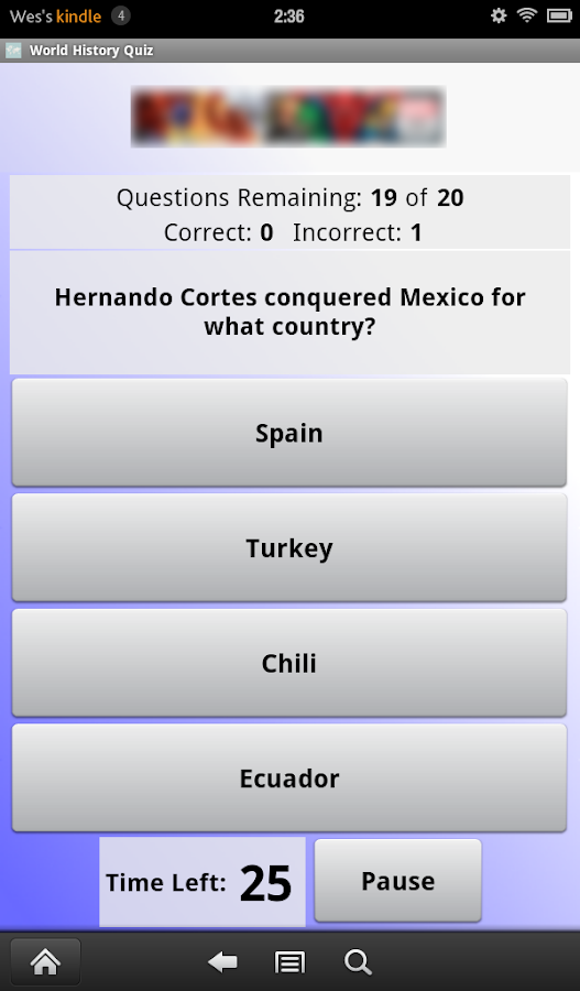 World History Quiz - screenshot