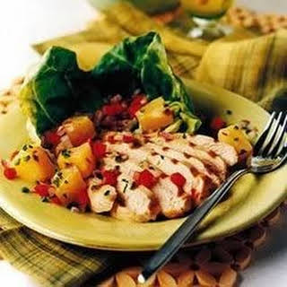 Caribbean Chicken Grill with Pineapple Salad.