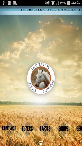 Equitation loisirs campagne