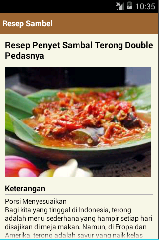 Resep Sambel Nusantara