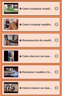 Restaurování nábytku - náhled