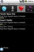 Screenshot of RadioAmp Internet Radio Player