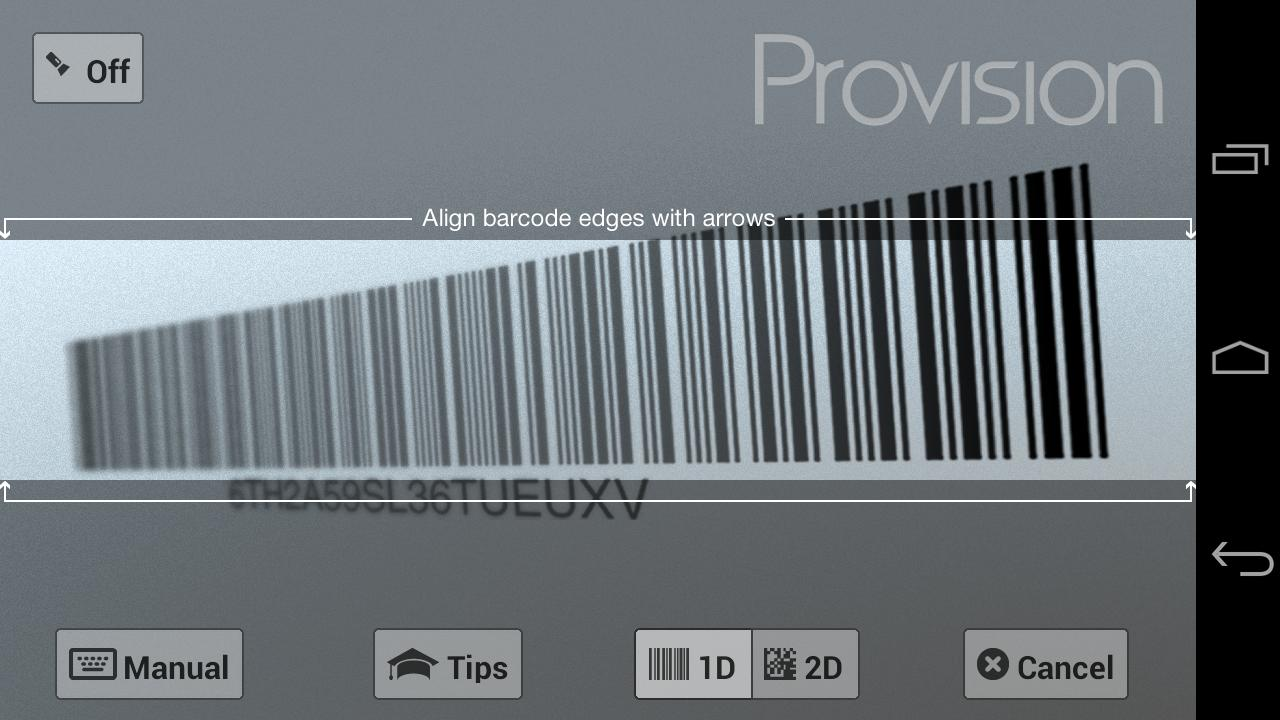 Provision - screenshot