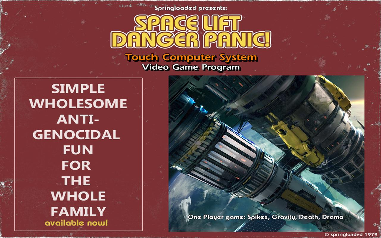 Space Lift Danger Panic! - screenshot