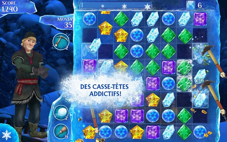 android La Reine des Neiges Free Fall Screenshot 6