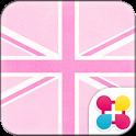 Cute Theme-Pink Union Jack- icon