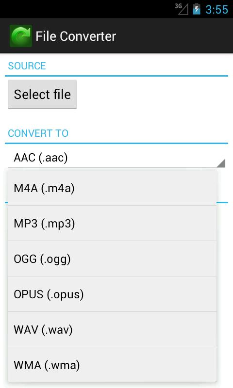 File Converter - screenshot