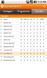 hockey.nl standenmotor - screenshot thumbnail