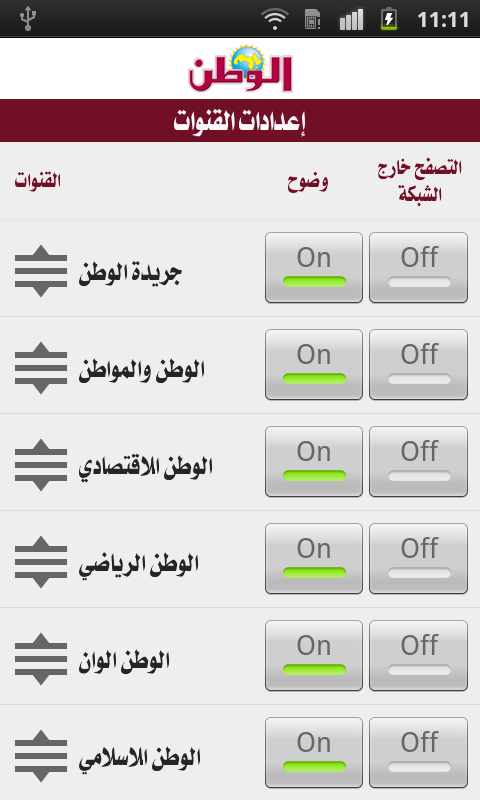 Al Watan(mobile)- screenshot