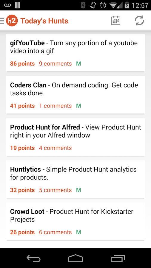 hunter2 - Product Hunt Client- screenshot