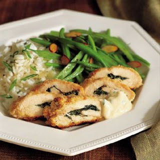 Chicken and Basil Roulades with Mustard Sauce