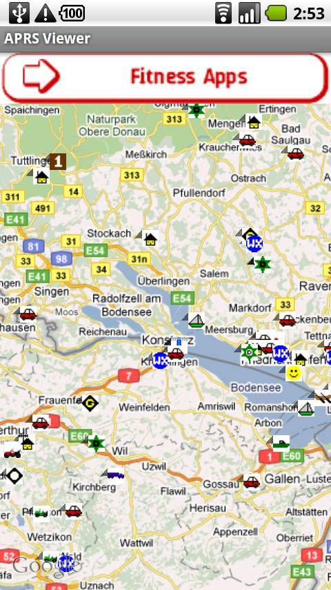 APRS Viewer - screenshot