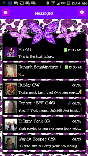 GO SMS - Cute Butterfly 2