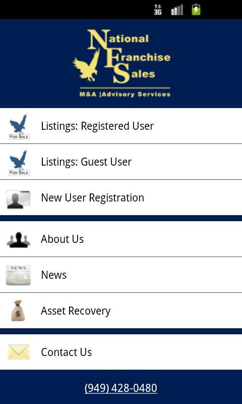 National Franchise Sales- screenshot