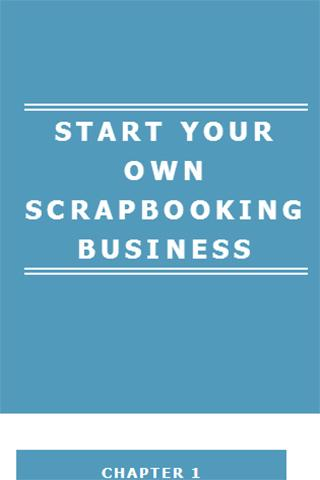 Starting a Scrapbook Business