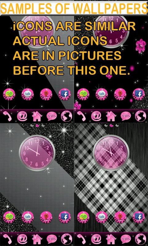 Go Launcher Pink Cheetah theme - screenshot