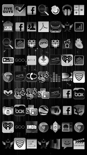 Black White Icon THEME★FREE★