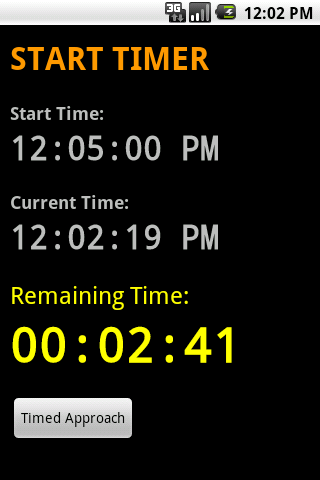 Start Timer - screenshot